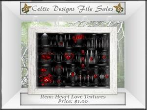 CD Heart Love Textures
