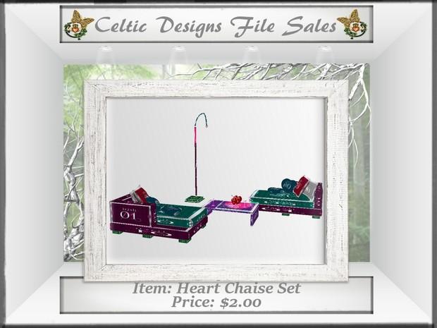 CD Heart Chaise Set