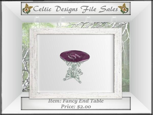 CD Fancy End Table