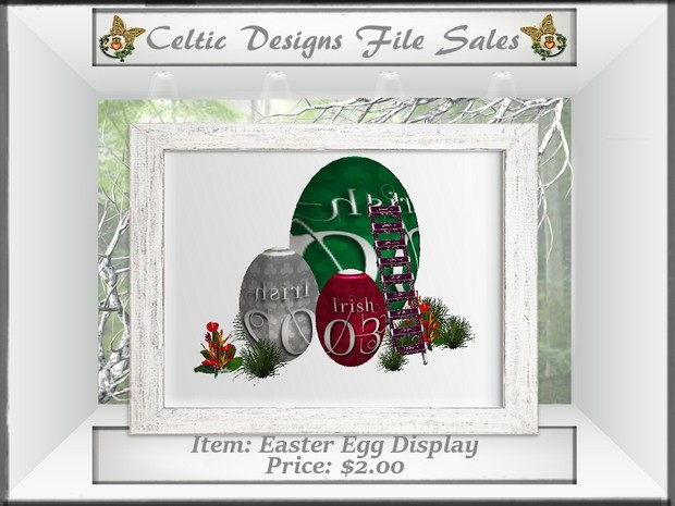 CD Easter Egg Display Mesh