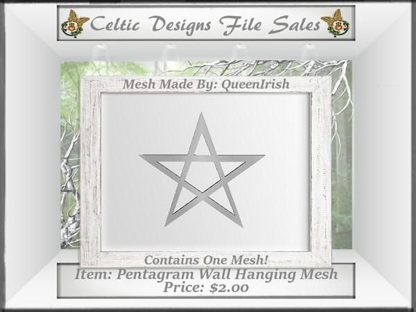 CD Pentagram Wall Hanging Mesh