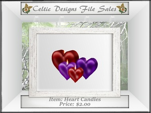 CD Heart Candles