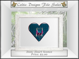 CD Heart Sconce