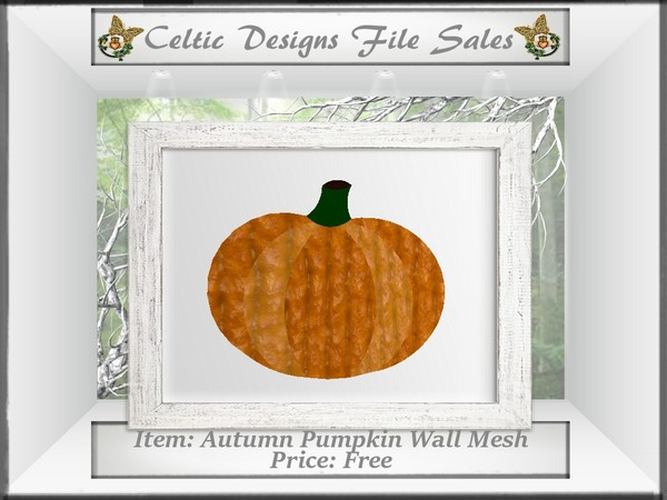CD Autumn Pumpkin Wall Hanging Mesh