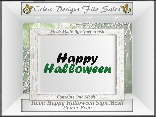 CD Happy Halloween Sign Mesh