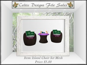 CD Island Chair Set Mesh