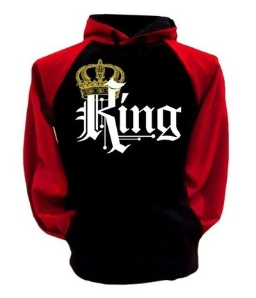 B Royal Designs RED King Hooded Sweatshirt