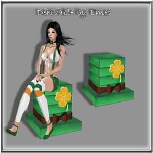 ST.PATRICK'S DAY HAT CHAIR MESH(1 REGULAR SITTING SPOT)