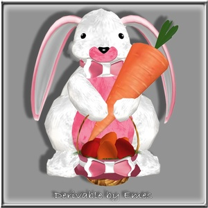 BUNNY CARROT EGGS BASKET MESH