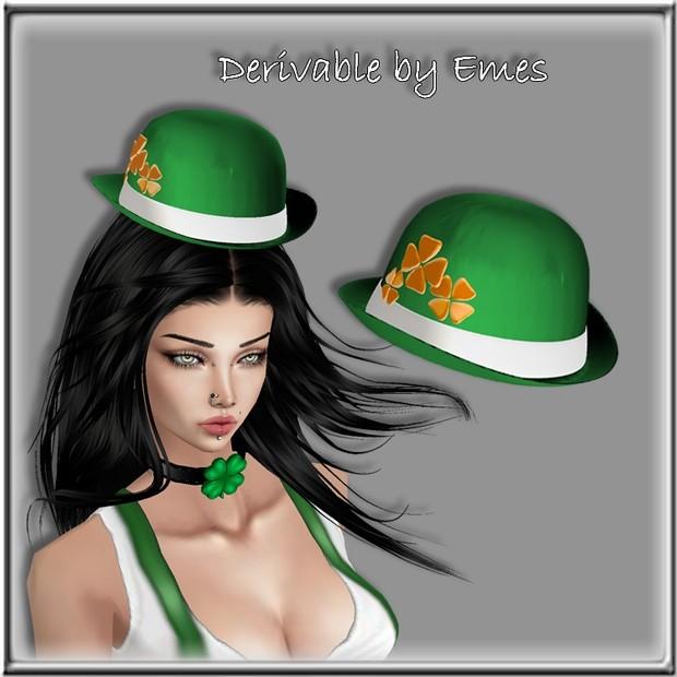IRISH HAT MESH FEMALE V2 (same  mesh but mapped differently)