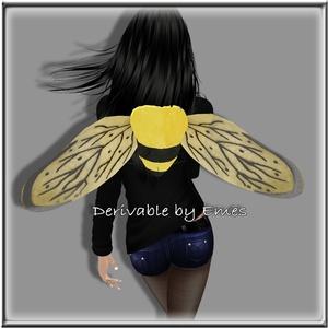BEE WINGS ANIMATED MESH UNISEX