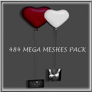 484 MESHES PACK(262 FURNITURES,205 ACCESORIES AND 17 ROOMS)