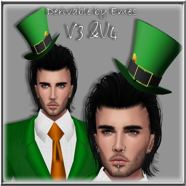 ST.PATRICK'S DAY TOP HAT MESH MALE  V4/ 2018