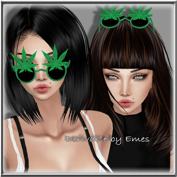 WEED GLASSES UP MESH FEMALE