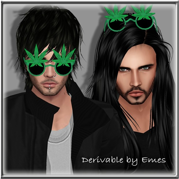 WEED GLASSES UP MESH  MALE