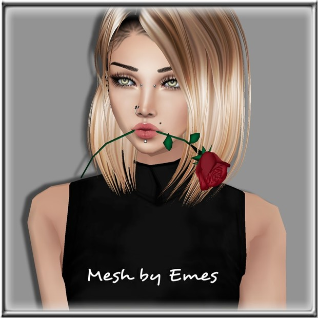 ROSE IN MOUTH MESH FEMALE VERSION