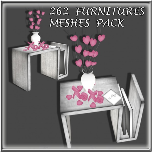 262 FURNITURES MESHES PACK