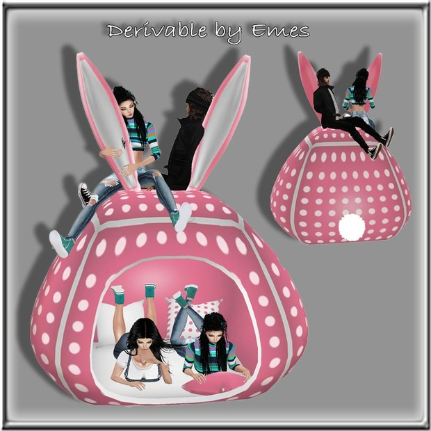 BUNNY TENT BED MESH ADULT VERSION POSES
