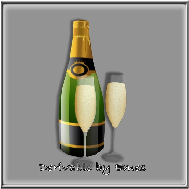 CHAMPAGNE AND GLASSES MESH