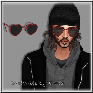 VALENTINES HEART GLASSES MALE MESH