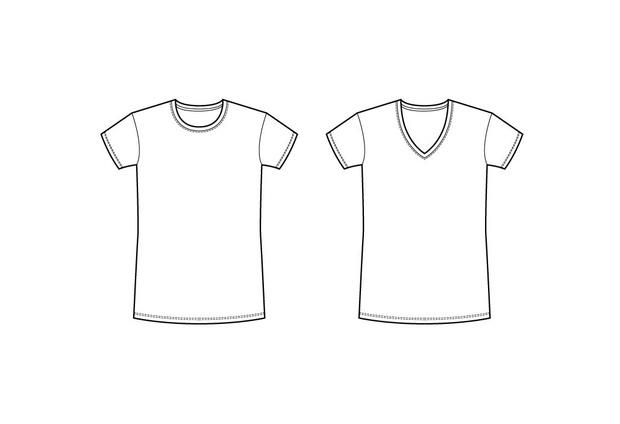2 Basic Vector T-shirts - Fashion Templates