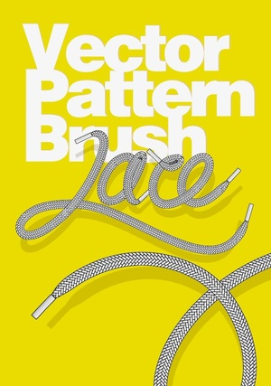 Shoe Lace pattern vector brush