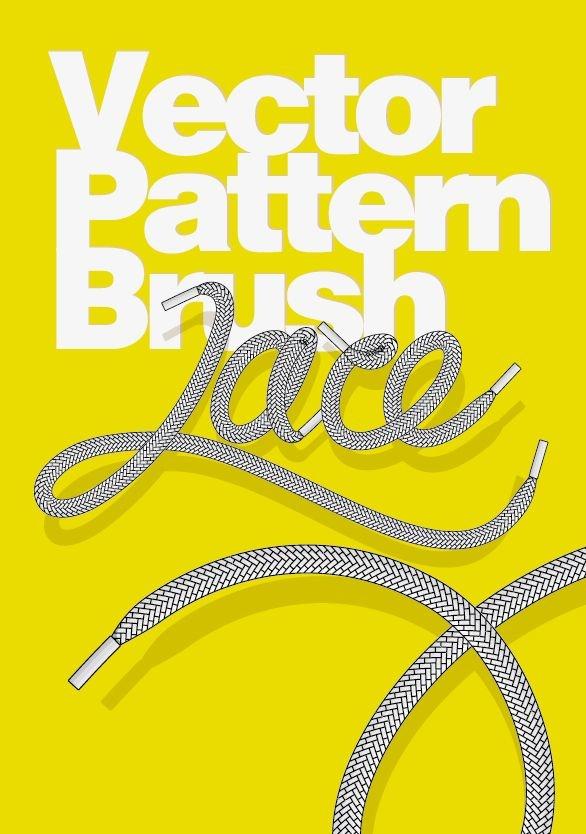 Shoe Lace pattern vector brush