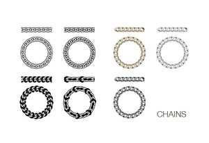 Chain Adobe illustrator pattern brushes