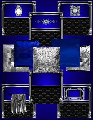 IMVU Blue Silver Texture Set