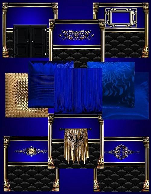 IMVU Blue Gold Texture Set