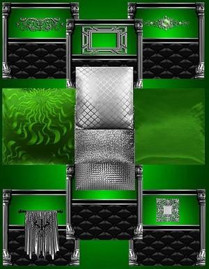 IMVU Green Silver Texture Set