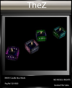 IMVU Candle Box Mesh