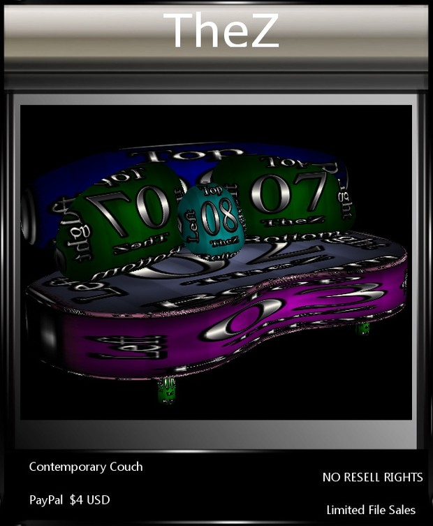 IMVU Contemporary Couch