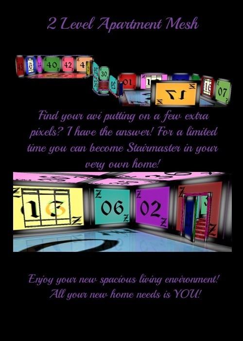 IMVU 2 Story Apartment Mesh