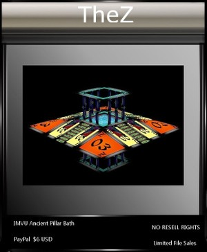 IMVU Ancient Pillar Bath
