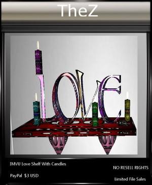 IMVU Valentine's Day Love Shelf