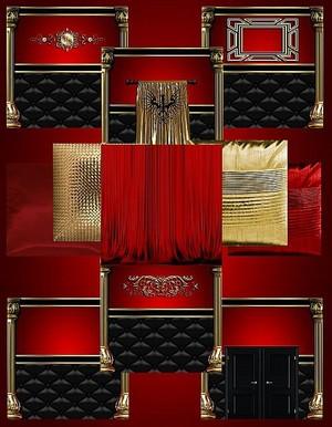 IMVU Red Gold Texture Set