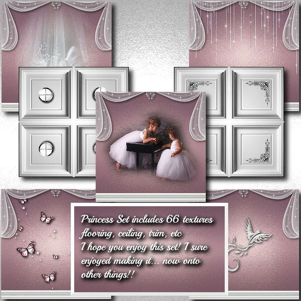 IMVU Princess Room Texture Set