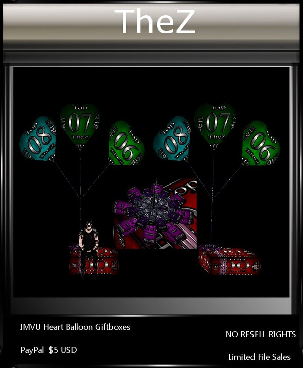 IMVU Heart Balloon Giftboxes