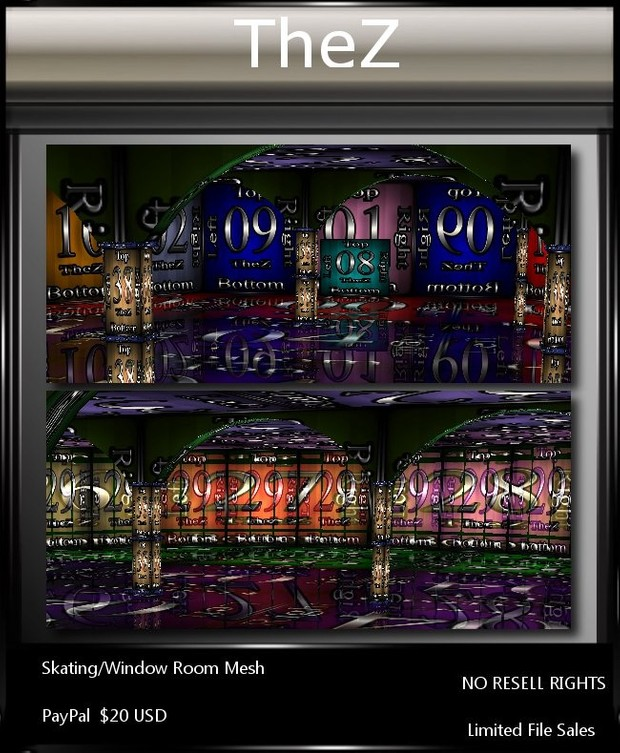 IMVU Skating/Window Room Mesh