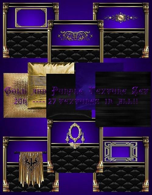 IMVU Purple Gold Texture Set