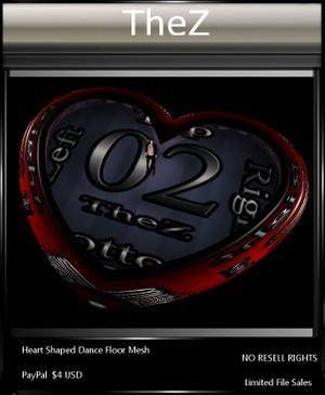 IMVU Heart Shaped Dance Floor Mesh