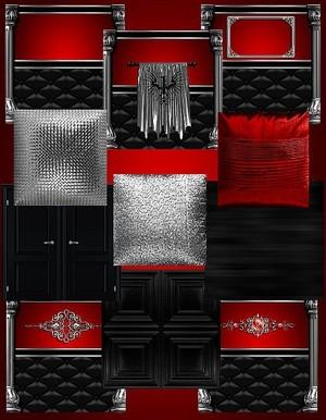 IMVU Red Silver Texture Set