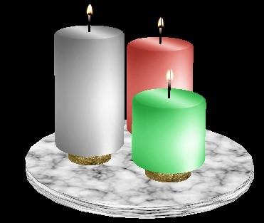 IMVU Table Candle Decor Mesh