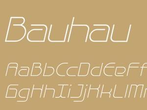 Bauhau Light Italic