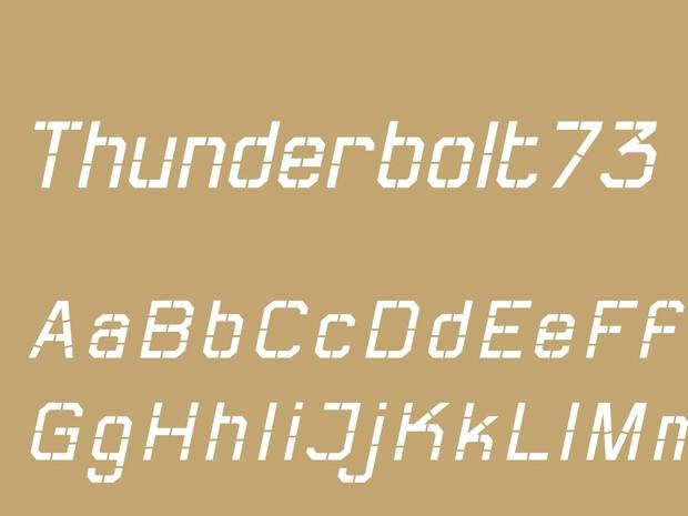 Thunderbolt73 Regular Italic