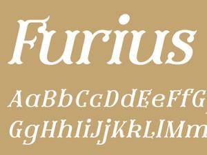 Furius Regular Italic