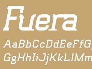 Fuera Fill Italic