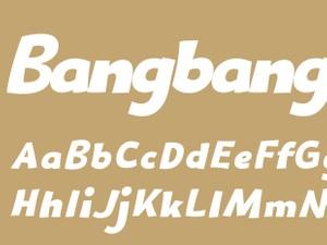 Bangbang Bold Italic