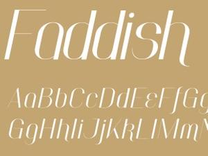 Faddish Bold Italic
